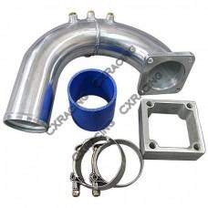Intake Elbow Pipe + Heater Delete Flange Kit For 03-07 Dodge Ram Cummins 5.9L Diesel.