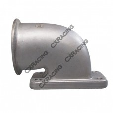 """2.5"""" Vband T3 Turbo Stainless Steel 90 Degree Elbow Adapter Flange 304 SS Cast"""