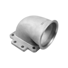 CXRacing 3.5-3 Cast Stainless Steel 90 Degree Reducer Elbow Pipe Vband Flange