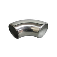 """2.25"""" O.D. Extruded 304 Stainless Steel Elbow 90 Degree Pipe , 3mm (11 Gauge) Thick"""