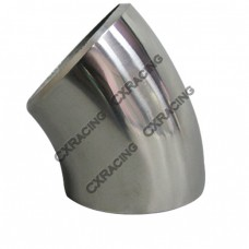 "2.36"" O.D. Extruded 304 Stainless Steel Elbow 45 Degree Pipe , 3mm (11 Gauge) Thick"
