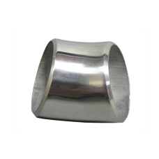 """2.5"""" O.D. Extruded 304 Stainless Steel Elbow 45 Degree Pipe , 3mm (11 Gauge) Thick"""