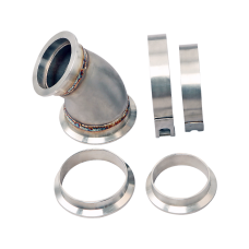 """3""""-2.5"""" Stainless Steel 45 Degree Reducer Elbow Pipe Vband Flange Clamp"""