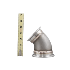 """3""""-2.5"""" Cast Stainless Steel 45 Degree Reducer Elbow Pipe Vband Flange"""