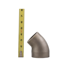 """3""""-2.5"""" O.D. Cast 304 Stainless Steel 45 Degree Reducer Elbow Pipe Tube"""