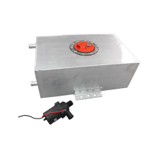 2.4 Gallon Polished Aluminum Ice Box Tank + Water Pump