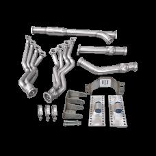 LS1 Engine T56 Transmission Mounts Swap Kit Header Y Pipe For 86-89 Supra MK3