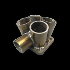 "4-1 header Manifold Merge Collector T4 48mm 1.9"" Wastegate Tube S 11 Gauge"