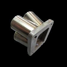 "4-1 11 Gauge Header Manifold Merge Collector 48mm1 7/8"" T4Flange SS 304"
