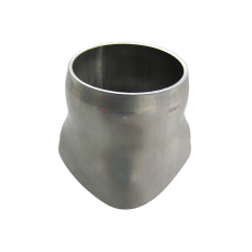 "16 Gauge Stainless Steel 4 (total 3.5"") To 2.5"" Round Tubing Merge Collector"