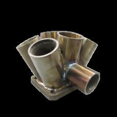 """11 Gauge 6-1 Header Manifold Merge Collector T4 45mm 1.75"""" Wastegate Tube L"""