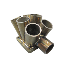 "11 Gauge 6-1 Header Manifold Merge Collector T4 45mm 1.75"" Wastegate Tube S"