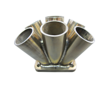 "11 Gauge  6-1 Header Manifold Merge Collector T4 1.9"" T4 Flange SS 304"