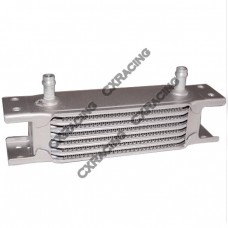 "Aluminum Oil Cooler 6.5"" Core 7 Row, 3/8"" Inlet Hi Performance"