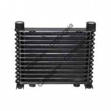 "Aluminum Oil Cooler 13 Rows, NPT 1/2"" Fitting Hi Performance"