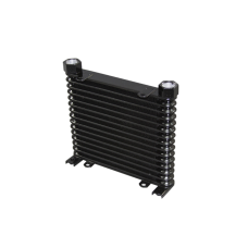 "Aluminum Oil Cooler 15 Rows, NPT 3/4"" Fitting Hi Performance"