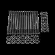 Chromoly Engine Cylinder Head Stud Bolt Kit for Nissan RB20DET RB25DET