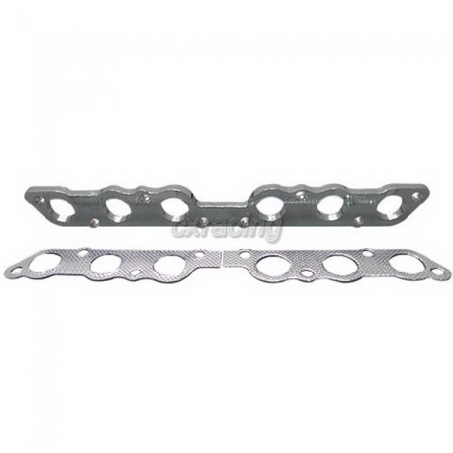 Exhaust Manifold Stainless Steel flange + Gasket For Supra
