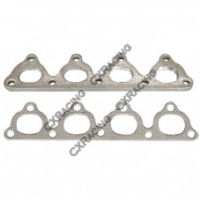 Exhaust Manifold Steel flange  + Gasket For Honda Civic D15 D16