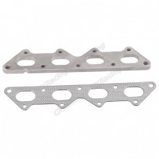 Exhaust Manifold Stainless Steel Flange + Gasket For Eclipse Talon Laser 1G 2G DSM 4G63 Turbo Engine