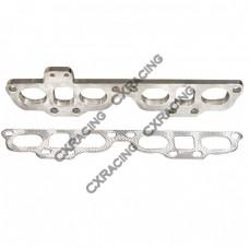 Exhaust Manifold Steel flange  + Gasket For 240SX S13 S14 SR20DET