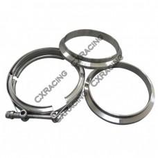 "5"" V-Band Vband Clamp & Flange (2 CNC Flange) Turbo Exhaust Stainless"