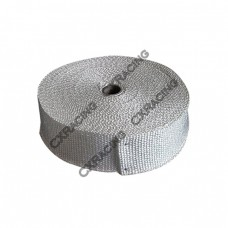 "Fiber Glass Exhaust Heat Header Wrap Turbo 1/16"" X 2"" X 50' White"
