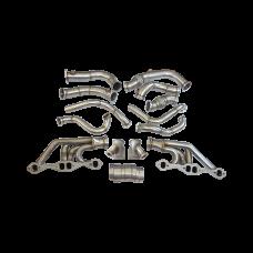 Twin Turbo Header Manifold Downpipe Kit For 63-67 Chevelle Nova SBC V8