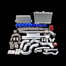 Intercooler Radiator Piping Trans Kit For 86-91 RX7 RX-7 FC 2JZ 2JZGTE
