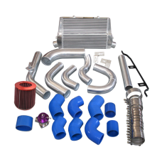 Intercooler + Piping Kit BOV Turbo Air Filter For 98-05 Lexus IS300 2JZ-GE NA-T