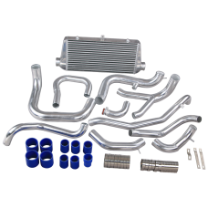 Front Mount Intercooler Kit  + Aluminum Air Pipe For 3000GT VR-4 VR4 Stealth
