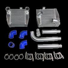 Side Mount Intercooler + Piping Kit For Mitsubishi 3000GT VR4 Dodge Stealth TD04 TT
