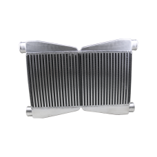"Dual Core Twin Turbo Intercooler 3.5"" Thickness 2.5"" Inlet & Outlet"