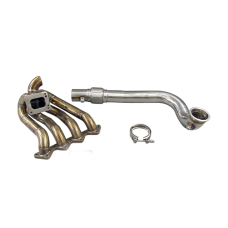 T3 T4 Top Mount Turbo Manifold + Downpipe For Civic D15 D16 D-Series