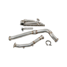 T3 Top Mount Turbo Manifold Downpipe For BMW E46 M52 Engine NA-T