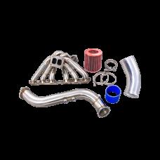 Turbo Manifold Downpipe INTAKE FILTER For SUPRA GS300 SC300 2JZGE 2JZ-GE