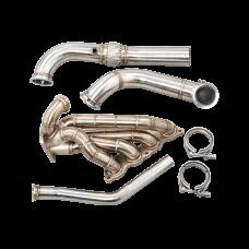 Thick Wall Turbo Manifold Downpipe Kit For 96-00 Honda Civic EK K20