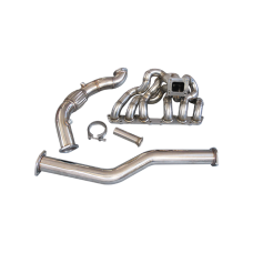 Stainless Steel  T4 Turbo Manifold + Downpipe For 98-05 Lexus IS300 2JZ-GE NA-T
