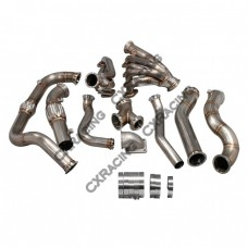 Turbo Manifold Header Downpipe Kit For 97-03 Ford F150 4.6L V8 NA-T