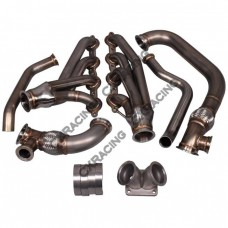 Turbo Manifold Header Kit For 05-13 Chevrolet Corvette C6 LS LS3 NA-T