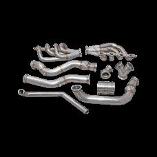 Single Turbo Manifold Downpipe For 74-81 Chevrolet Camaro LS1 Engine