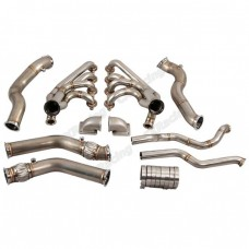 Twin Turbo Manifold Header Downpipe Kit for 67-69 Chevrolet Camaro LS1 Engine