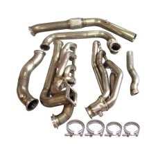 Turbo Header Manifold Downpipe Kit For 64-68 Ford Mustang 289