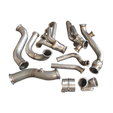 Turbo Header Manifold Downpipe Kit For 79-93 Ford Mustang V8 5.0 NA-T Foxbody