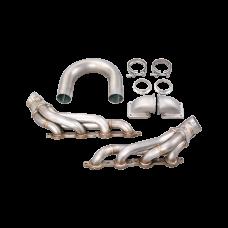 DIY Twin Turbo LS1 LS Manifold Header T4 Vband For Supra GTO FC S13 S14