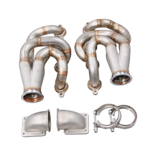 Twin Turbo Manifold Header Kit For 60-66 Chevrolet C10 Truck LS1 LQ Engine