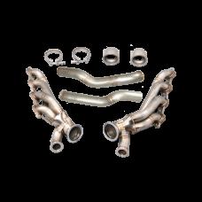 Twin Turbo Manifold Header Kit For 86-92 Supra MK3 LS1 T56 Swap T4 46mm