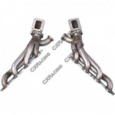 Twin Turbo Manifold Header Kit For 86-92 Supra MK3 LS1 LSx swap