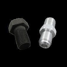 Oil Feed Cap bolt + AN4 fitting For 86-98 Supra 1JZGTE 2JZGTE 1JZ 2JZ Single Turbo