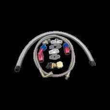 Universal Turbo Oil Line Kit Feed + Return Drain 4AN 10AN For T3 T4 T70 Turbo  Oil Pan Plug